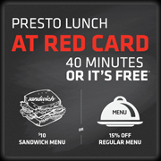 Presto Lunch at Red Cardr